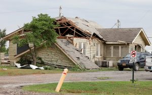 A home on Route 66 is damaged after a tornado touched down overnight in El Reno, Oklahoma, U.S. May 26, 2019. REUTERS/Alonzo Adams