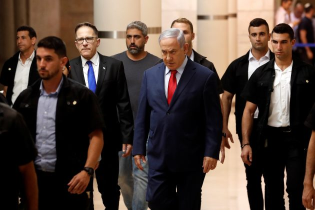 Israeli Prime Minister Benjamin Netanyahu arrives to a Likud party meeting at the Knesset, Israel's parliament, in Jerusalem May 29, 2019. REUTERS/Ronen Zvulun