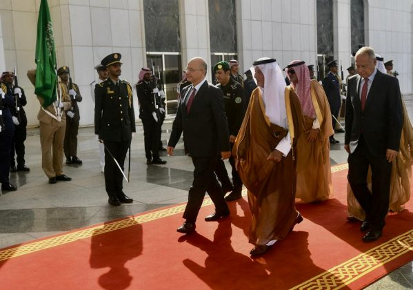 Iraq's President Barham Salih arrives to attend the meeting for the Gulf Cooperation Council (GCC), Arab and Islamic summits in Jeddah, Saudi Arabia May 30, 2019. The Presidency of the Republic of Iraq Office/Handout via REUTERS
