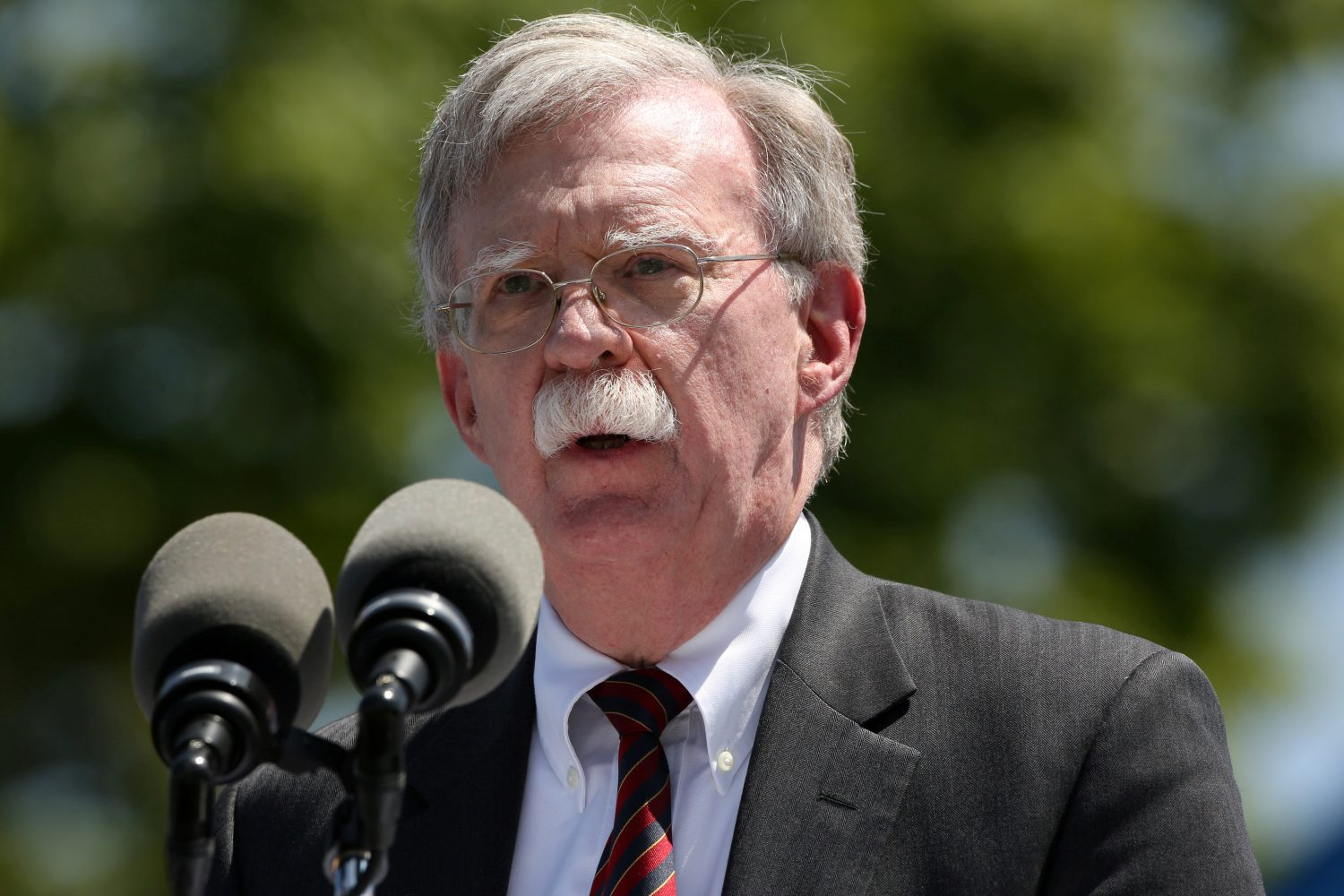 FILE PHOTO: U.S. National Security Advisor John Bolton speaks during a graduation ceremony at the U.S. Coast Guard Academy in New London, Connecticut, U.S., May 22, 2019. REUTERS/Michelle McLoughlin
