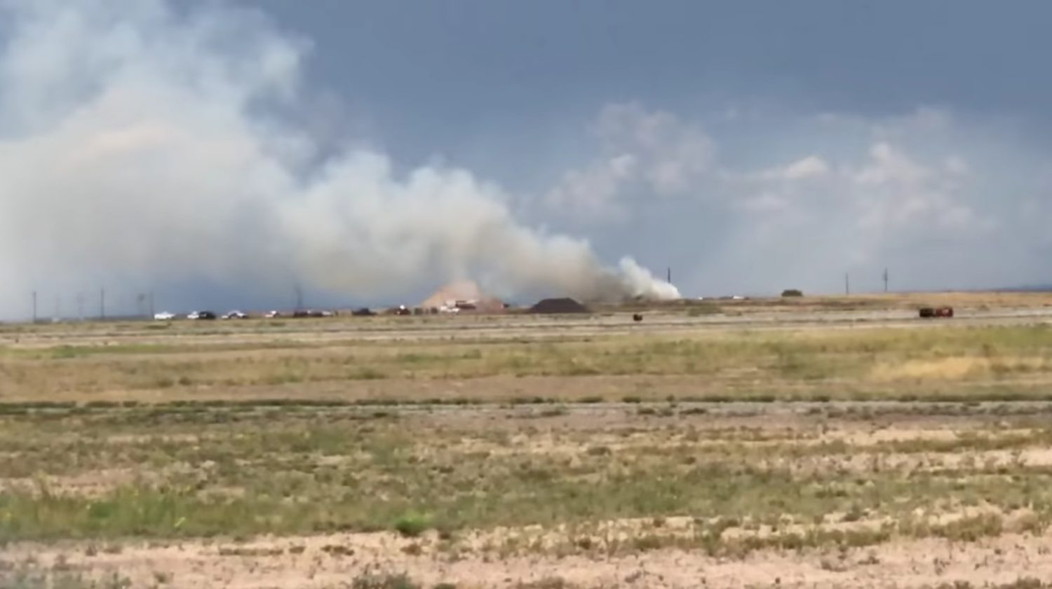 Smoke from an explosion is seen in Roswell, New Mexico, U.S., June 5, 2019 in this picture obtained from social media. Roswell Today/via REUTERS