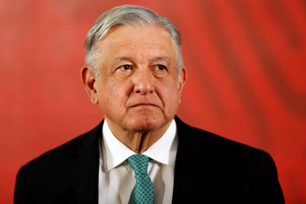 Mexico's President Andres Manuel Lopez Obrador attends a news conference at the National Palace in Mexico City, Mexico June 10, 2019. REUTERS/Gustavo Graf