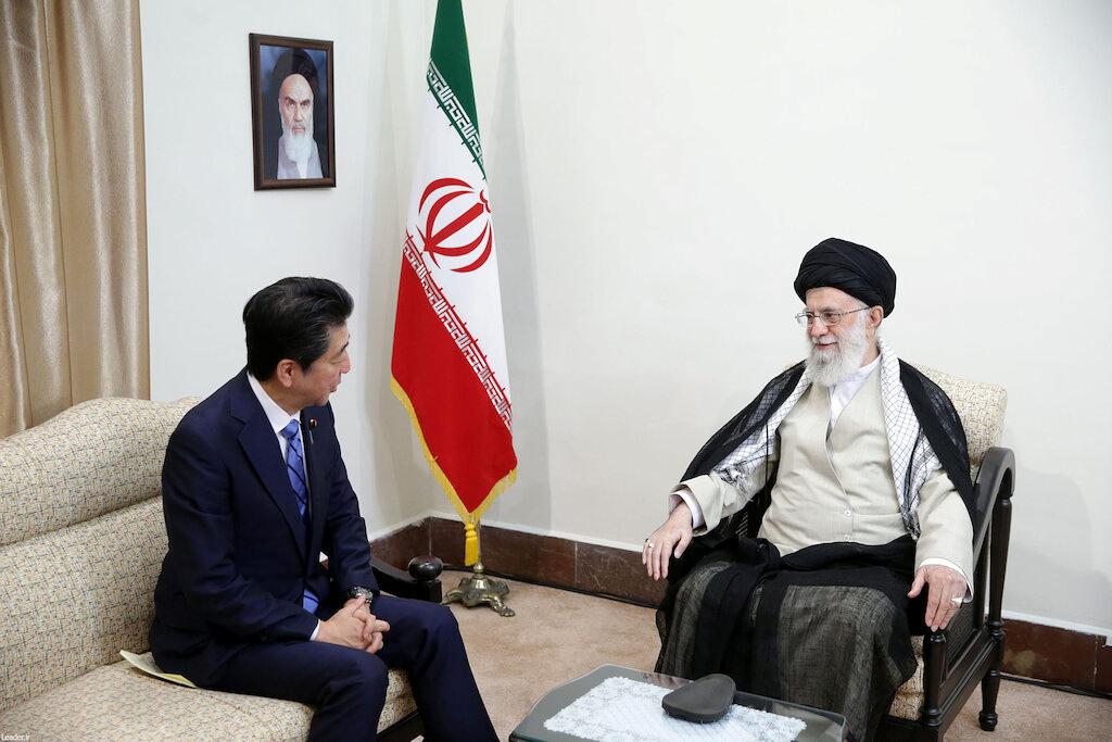 Iran's Supreme Leader Ayatollah Ali Khamenei meets with Japan's Prime Minister Shinzo Abe in Tehran, Iran June 13, 2019. Official Khamenei website/Handout via REUTERS