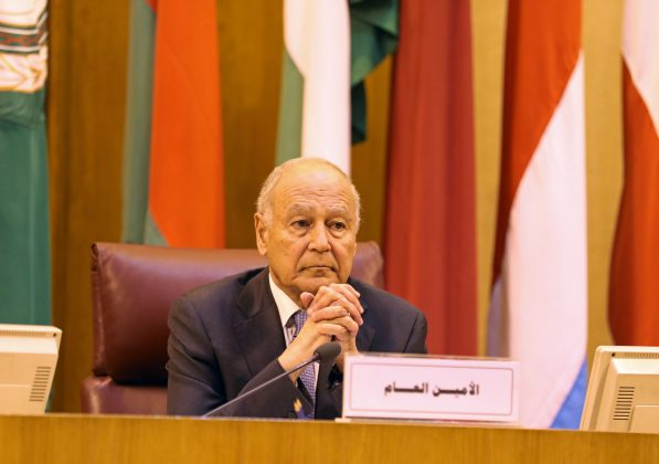FILE PHOTO - Arab League Secretary-General Ahmed Aboul Gheit attends the Arab League's foreign ministers meeting to discuss unannounced U.S. blueprint for Israeli-Palestinian peace, in Cairo, Egypt April 21, 2019. REUTERS/Mohamed Abd El Ghany