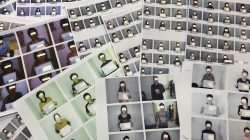 Photo sheets of the North Korean refugees helped by the North Korea Refugees Human Rights Association of Korea are displayed in Seoul, South Korea, June 11, 2019. REUTERS/Josh Smith
