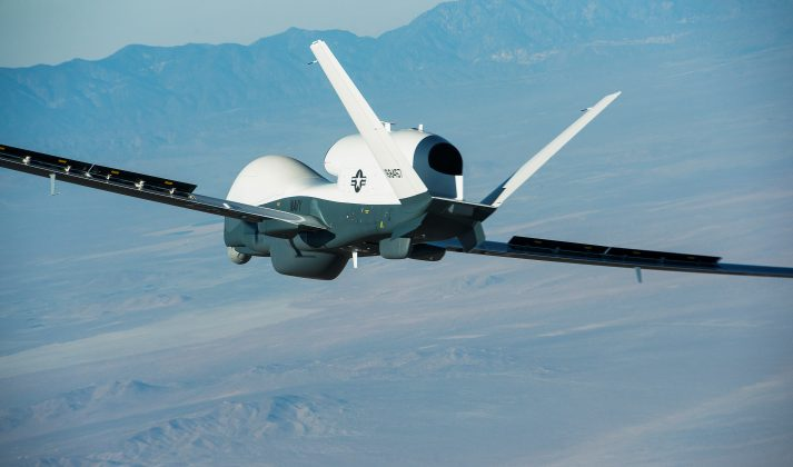 FILE PHOTO: The Northrop Grumman-built Triton unmanned aircraft system completed its first flight from the company's manufacturing facility in Palmdale, California, U.S., May 22, 2013. US Navy/Northrop Grumman/Bob Brown/Handout via REUTERS
