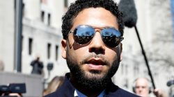 FILE PHOTO: Actor Jussie Smollett leaves court after charges against him were dropped by state prosecutors in Chicago, Illinois, U.S. March 26, 2019. REUTERS/Kamil Krzaczynski/File Photo