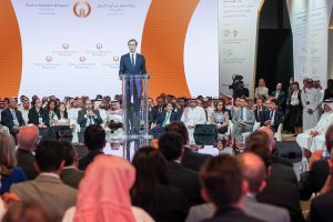 "FILE PHOTO: White House senior adviser Jared Kushner speaks at the ""Peace to Prosperity"" conference in Manama, Bahrain, June 25, 2019. Peace to Prosperity Workshop/Handout via REUTERS"