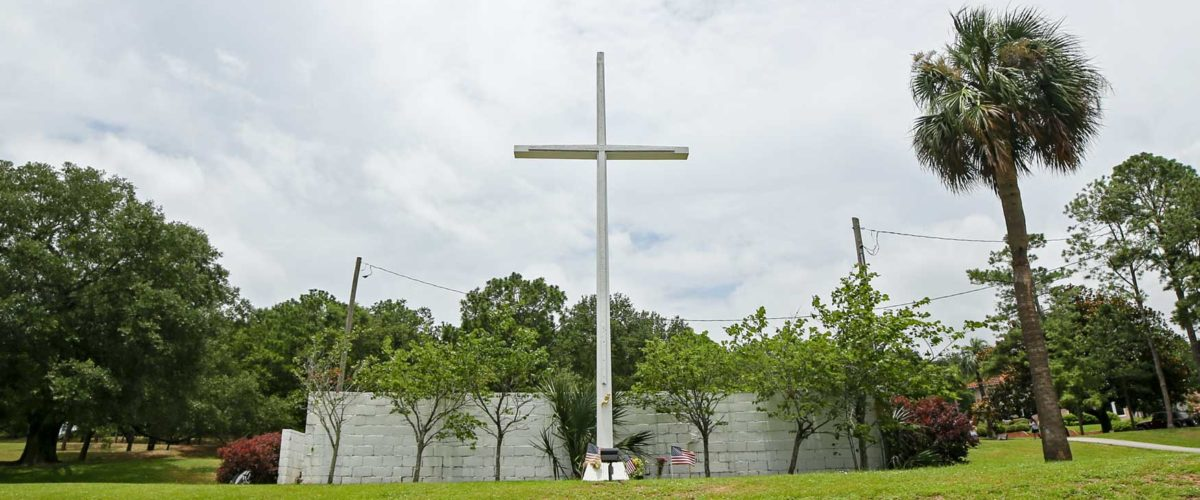 Pensacola, Florida Cross on public land