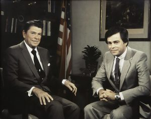 Jim Bakker and President Ronald Reagan