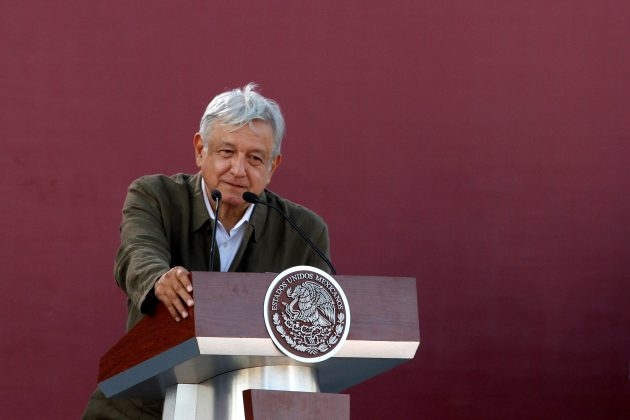FILE PHOTO - Mexico's President Andres Manuel Lopez Obrador takes part on a 'unity' rally to defend the dignity of Mexico and talks about the trade negotiations with the U.S in Tijuana, Mexico June 8, 2019. REUTERS/Jorge Duenes