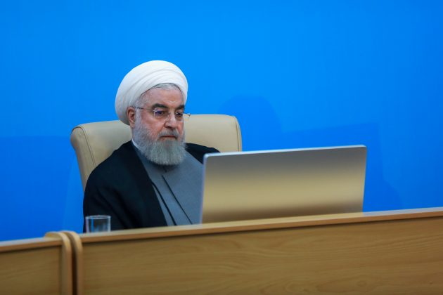 Iranian President Hassan Rouhani is seen during meeting with health ministry top officials in Tehran, Iran, June 25, 2019. Official President website/Handout via REUTERS