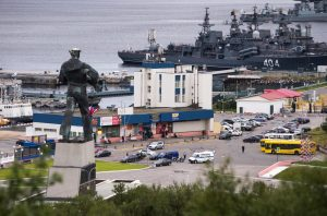 A view shows Russian navy ships at the port of Severomorsk, Russia July 27, 2016. Picture taken July 27, 2016. REUTERS/Stringer