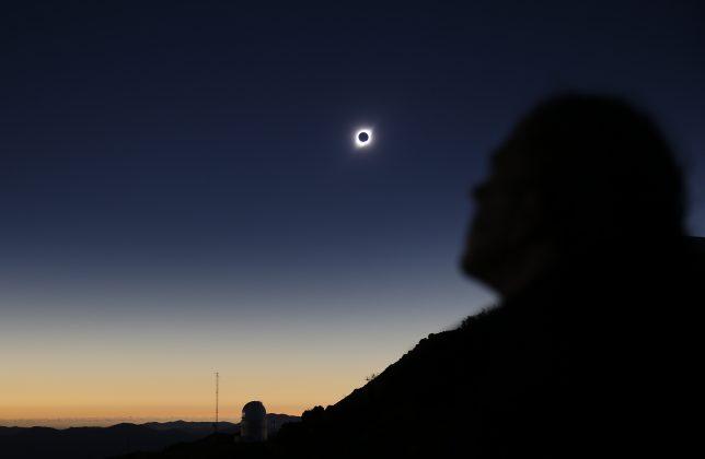 A person observes a solar eclipse at Coquimbo, Chile, July 2, 2019. REUTERS/Rodrigo Garrido