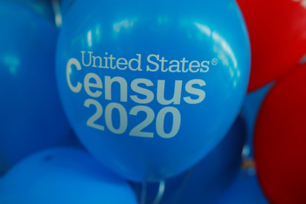 FILE PHOTO: Balloons decorate an event for community activists and local government leaders to mark the one-year-out launch of the 2020 Census efforts in Boston, Massachusetts, U.S., April 1, 2019. REUTERS/Brian Snyder