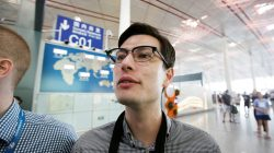 An Australian student Alek Sigley, 29, who was detained in North Korea, departs from Beijing to Japan, at the Beijing international airport, China, July 4, 2019. REUTERS/Jason Lee