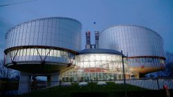 FILE PHOTO: The building of the European Court of Human Rights is seen in Strasbourg, France March 26, 2019. REUTERS/Vincent Kessler/File Photo