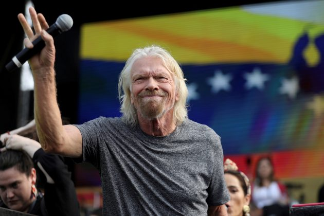 "FILE PHOTO: Sir Richard Branson attends the ""Venezuela Aid Live"" concert near the Tienditas cross-border bridge between Colombia and Venezuela, in Cucuta, Colombia, February 22, 2019. REUTERS/Luisa Gonzalez"