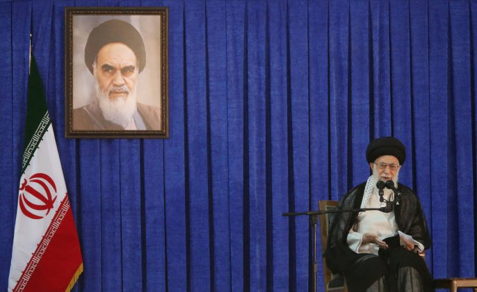 FILE PHOTO: Iran's Supreme Leader Ayatollah Ali Khamenei delivers a speech during a ceremony marking the death anniversary of the founder of the Islamic Republic Ayatollah Ruhollah Khomeini, in Tehran, Iran, June 4, 2017. TIMA via REUTERS