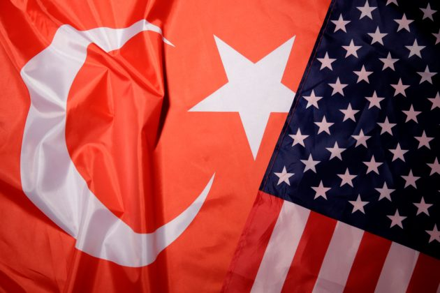 Turkey and U.S. flags are seen in this picture illustration taken August 25, 2018. REUTERS/Dado Ruvic/Illustration