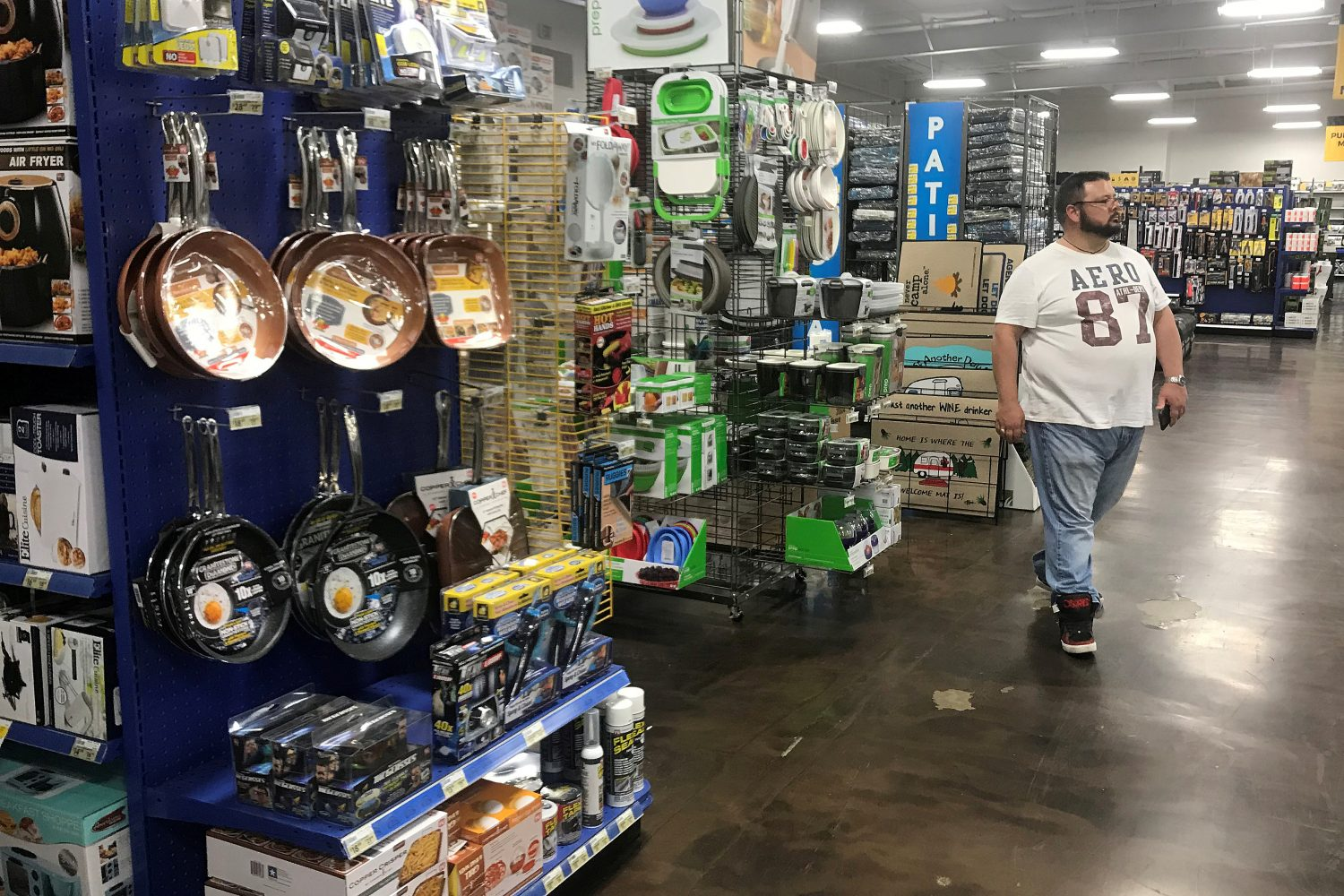 FILE PHOTO: A man shops at a store that sells parts and accessories for Recreational Vehicles (RVs) in Orlando, Florida, U.S., June 20, 2019. REUTERS/Carlo Allegri/File Photo