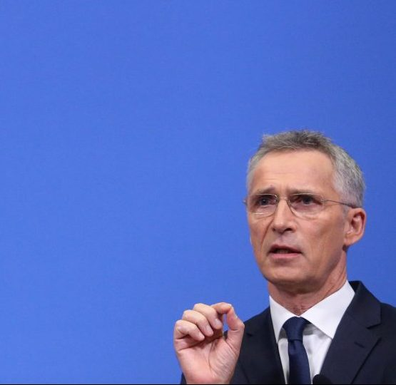 FILE PHOTO: NATO Secretary-General Jens Stoltenberg speaks during a news conference after a NATO Defence Ministers meeting in Brussels, Belgium June 27, 2019. REUTERS/Francois Walschaerts