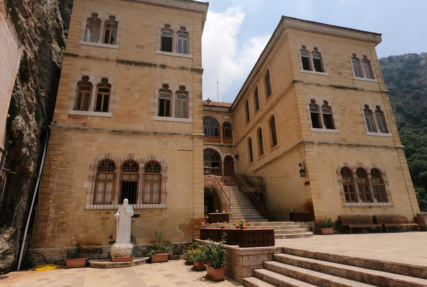 A view of the Monastery of Saint Anthony of Qozhaya in the heart of the Qadisha valley, in Zgharta district, LebanonJune 23, 2019. REUTERS/Imad Creidi