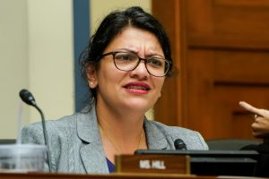 "FILE PHOTO: Rep. Rashida Tlaib (D-MI) questions Acting Homeland Security Secretary Kevin McAleenan as he testifies before the House Oversight and Reform Committee on ""Trump Administration's Child Separation Policy"" on Capitol Hill in Washington, U.S., July 18, 2019. REUTERS/Joshua Roberts/File Photo"