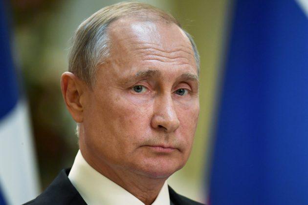 Russian President Vladimir Putin attends a joint news conference with Finnish President Sauli Niinisto in the Presidental Palace in Helsinki, Finland, August 21, 2019. Markku Ulander/Lehtikuva/via REUTERS