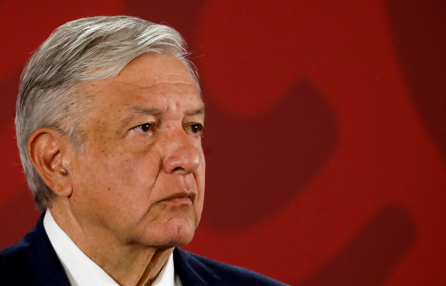 FILE PHOTO: Mexico's President Andres Manuel Lopez Obrador attends a news conference at the National Palace in Mexico City, Mexico July 22, 2019. REUTERS/Edgard Garrido/File Photo