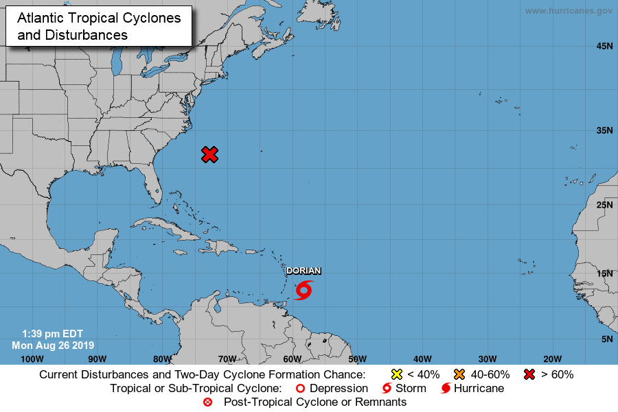 Location map, National Hurricane Center