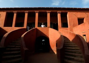 "Emmanuel Mouti Dongo from Cameroon visits the ""Maison Des Esclaves"" slave house on Goree Island off the coast of Dakar, Senegal, July 7, 2019.  REUTERS/Zohra Bensemra"