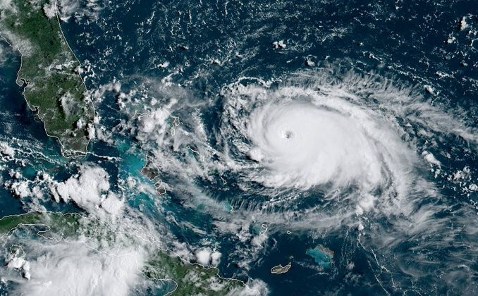 Hurricane Dorian is seen from the National Oceanic and Atmospheric Administration NOAA's GOES-East Satellite, over the Atlantic Ocean, August 31, 2019 in this handout image obtained from social media. NOAA/Handout via REUTERS