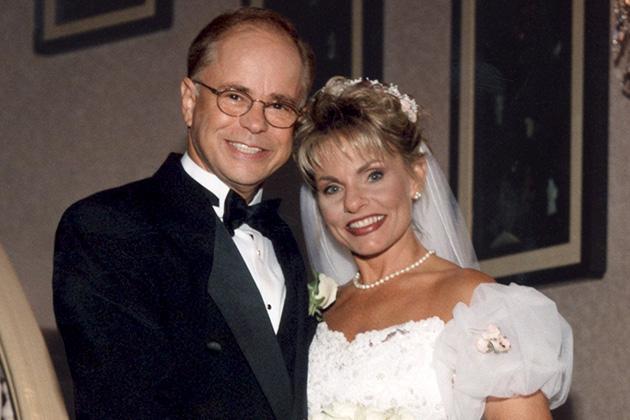 Jim and Lori on their wedding day
