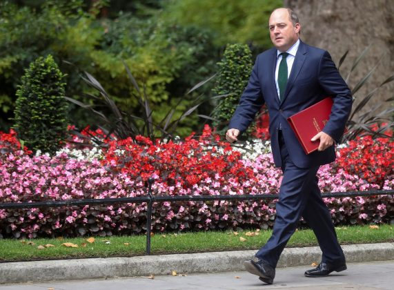 FILE PHOTO: Britain's Defence Secretary Ben Wallace walks outside Downing Street in London, Britain, September 2, 2019. REUTERS/Simon Dawson
