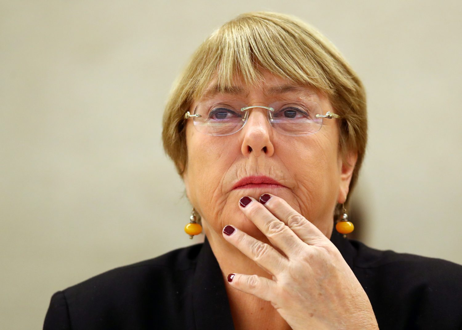FILE PHOTO - U.N. High Commissioner for Human Rights Michelle Bachelet attends a session of the Human Rights Council at the United Nations in Geneva, Switzerland, September 9, 2019. REUTERS/Denis Balibouse