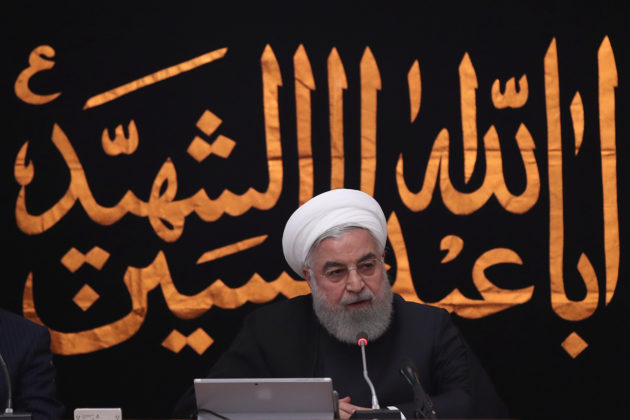 Iranian President Hassan Rouhani speaks during the cabinet meeting in Tehran, Iran, September 11, 2019. Official President website/Handout via REUTERS