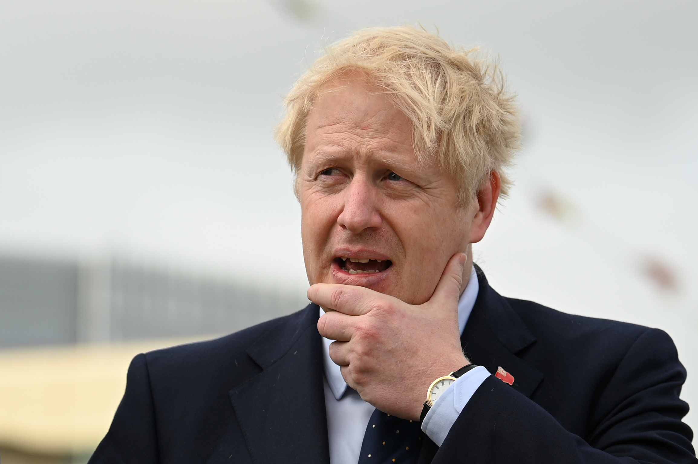 Britain's Prime Minister Boris Johnson visits the NLV Pharos, a lighthouse tender moored on the river Thames to mark London International Shipping Week in London, Britain September 12, 2019. Daniel Leal-Olivas/Pool via REUTERS