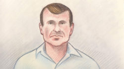 Cameron Ortis, director general with the Royal Canadian Mounted Police's intelligence unit, is shown in a court sketch from his court hearing in Ottawa, Canada, September 13, 2019. Lauren Foster-MacLeod/Handout via REUTERS