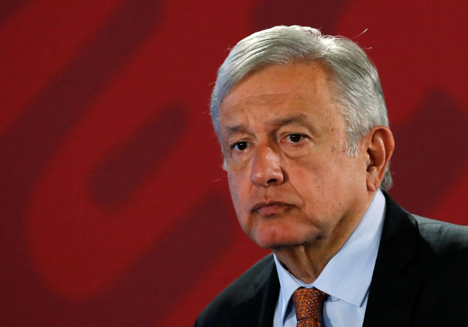 FILE PHOTO: Mexico's President Andres Manuel Lopez Obrador attends a news conference at the National Palace in Mexico City, Mexico August 30, 2019. Picture taken August 30, 2019. REUTERS/Henry Romero