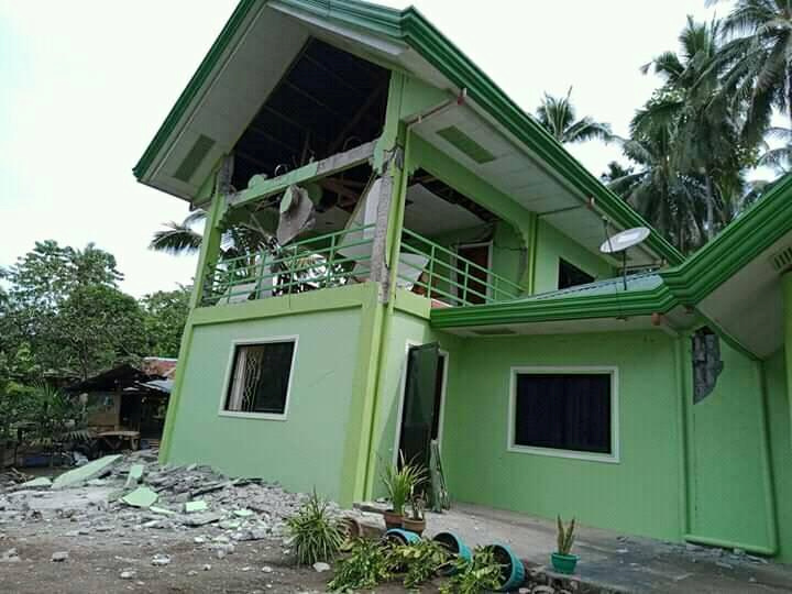 A damaged local town hall is seen in Mabini, Davao Del Sur, Philippines after a magnitude 6.6 earthquake struck Octiber 29, 2019 in this picture obtained from social media. Jaypee Catalan via REUTERS