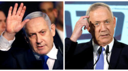 A combination picture shows Israeli Prime Minister Benjamin Netanyahu in Tel Aviv, Israel November 17, 2019, and leader of Blue and White party Benny Gantz in Tel Aviv, Israel November 20, 2019. REUTERS/Nir Elias, Amir Cohen